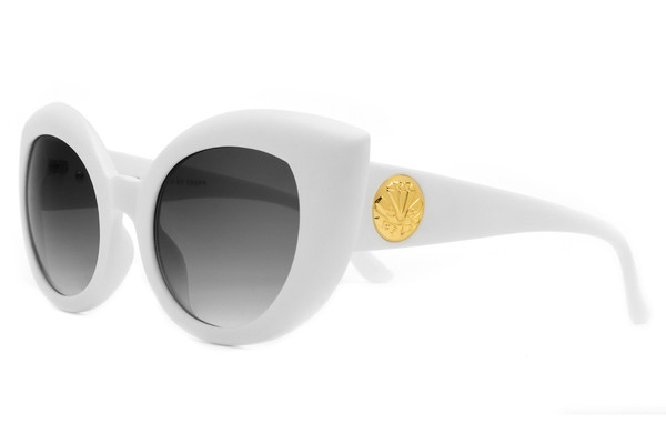 The Diamond Brunch - Matte White w/ Grey Gradient CR-39 Lenses | CRAP Eyewear