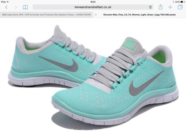 shoes nike turquoise grey