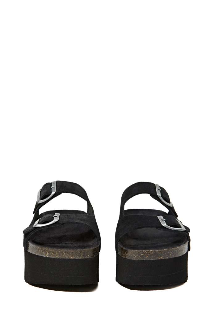 Jeffrey Campbell Aurelia Platform Sandal - Black Suede at Nasty Gal