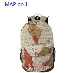 England USA Map Newspaper Backpack Shoulder Bag Bookbag School Sport Handbag | eBay