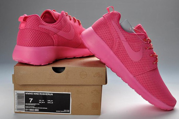shoes pink roshe runs nike air