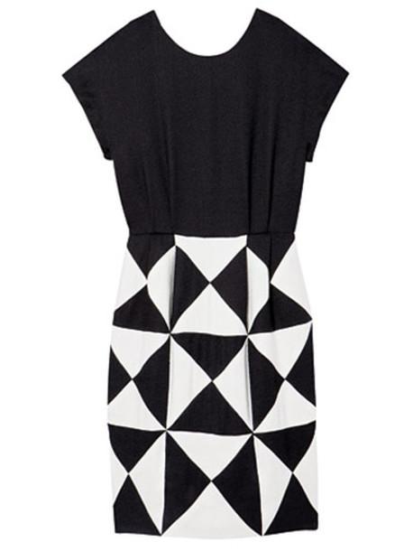 black white dress