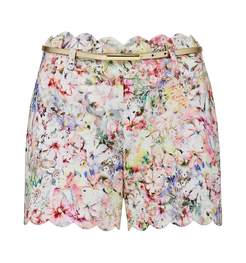 Lily Scallop Hem Short - Forever New