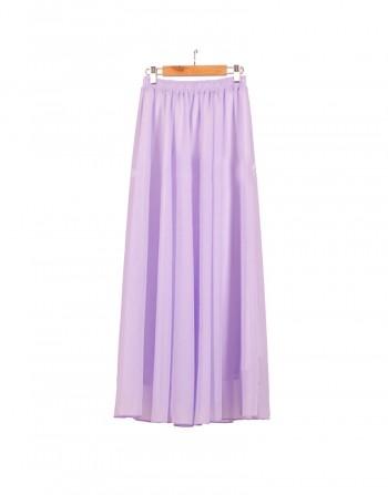 Miirue - Lavender Maxi Skirt - Online Shopping Malaysia Singapore