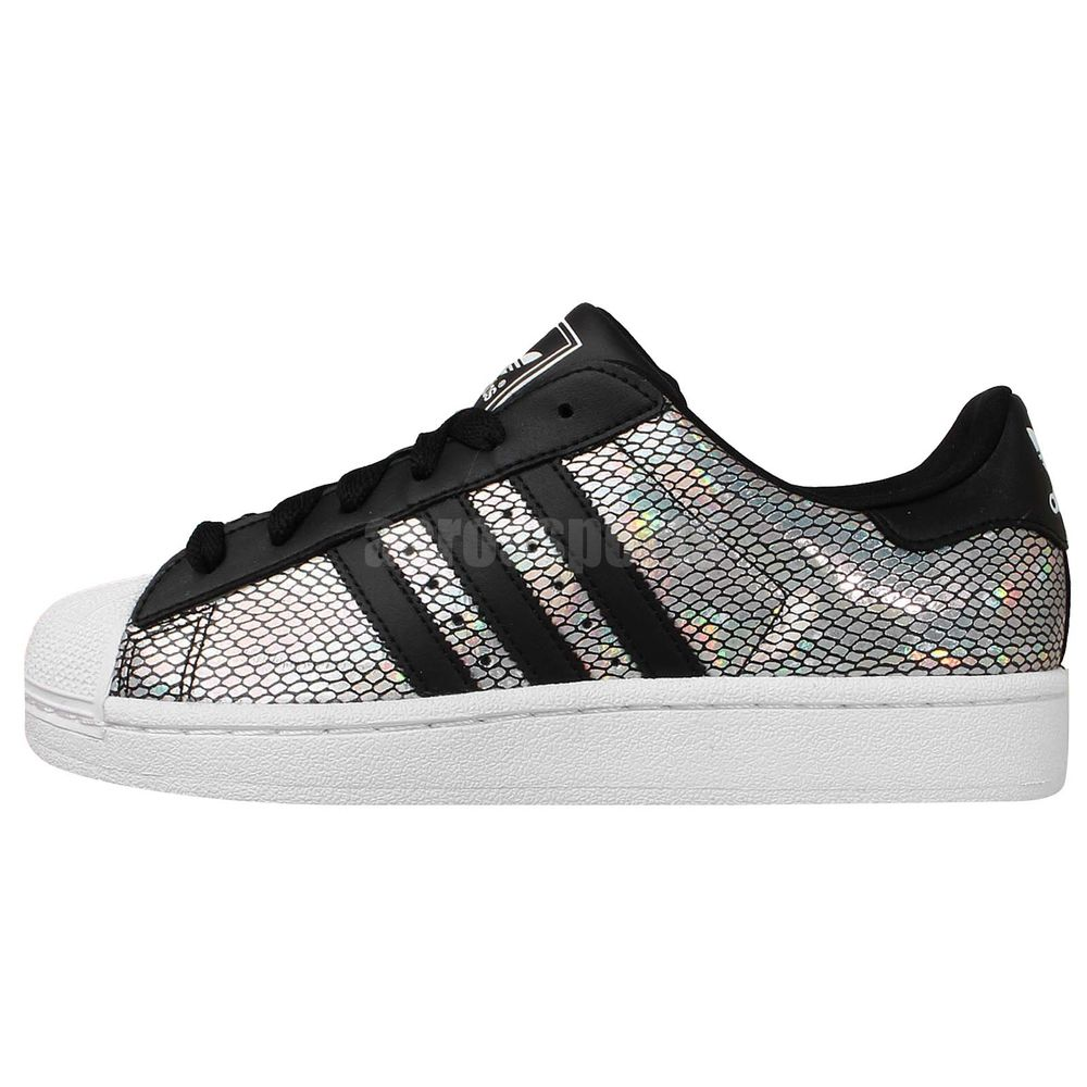 Shoes Men adidas Superstar B41987 (Silver, Black