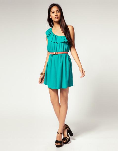 destructured dress one shoulder dress