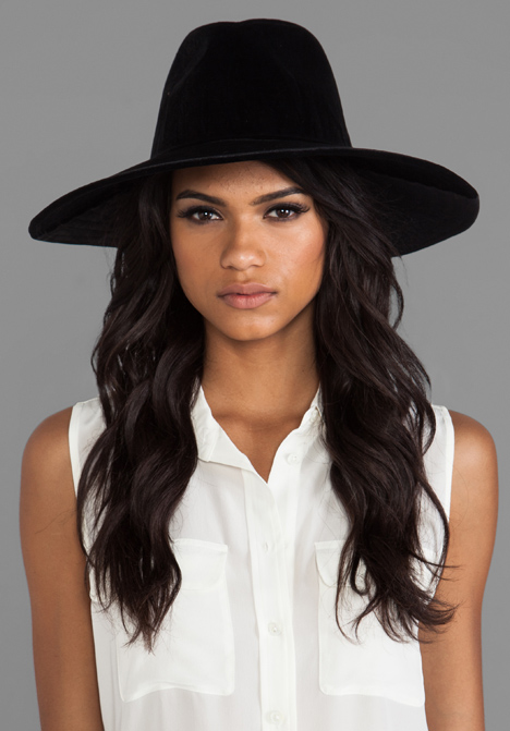 UNIF Lore Hat in Black Velvet at Revolve Clothing - Free Shipping!