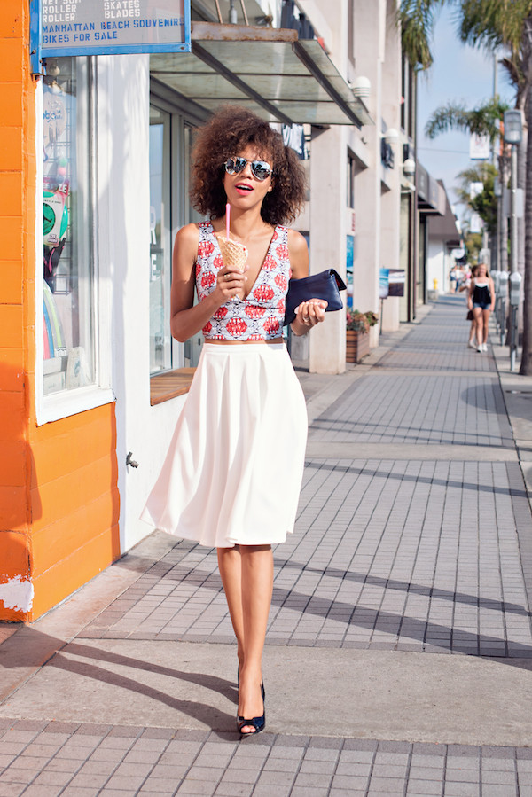 style me grasie top skirt shoes bag sunglasses jewels