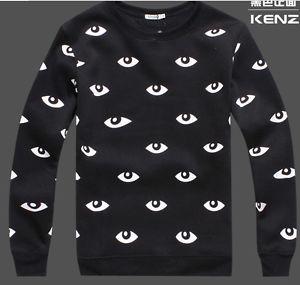 2013 Fashion KENZO1 Printing Eyes Sweater Woman Star Show Thicken Sweaters | eBay