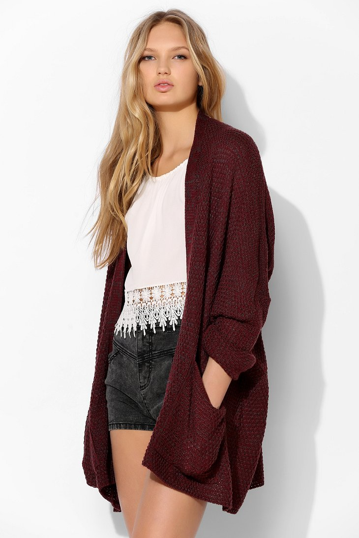 BDG Rolled-Sleeve Open Cardigan - Urban Outfitters
