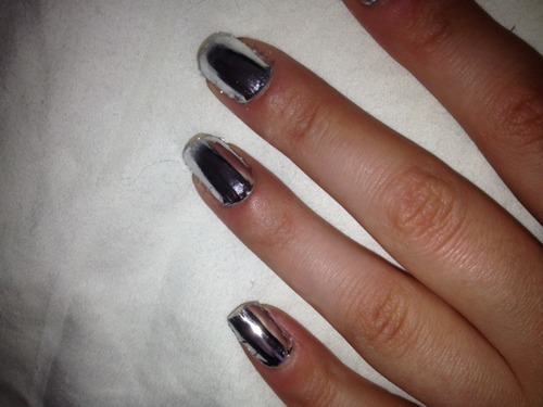 Amazon.com : Silver Nail Foil Wraps polish strips stickers for Fingers and Toes by Miss Silver : Nail Brushes : Beauty