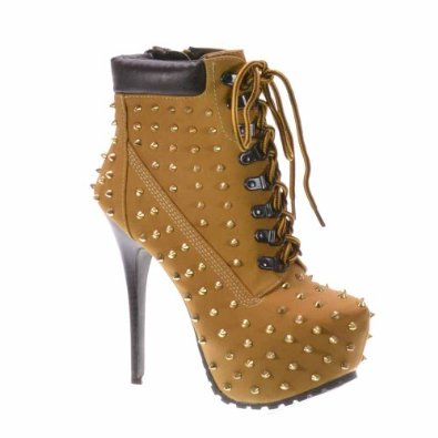 Amazon.com: Breckelle's BLAZER-12 Women's stylish studded lace up platform ankle booties: Shoes
