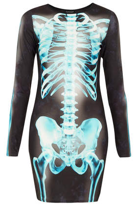 X- Ray Skeleton Bodycon Dress - Dresses  - Clothing  - Topshop