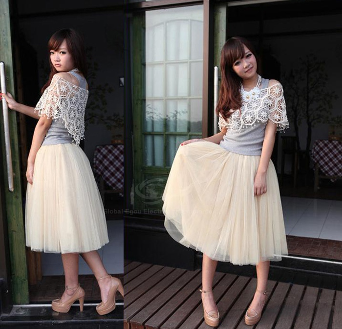 Wholesale Charming Ladylike Solid Color Layered Voile Skirt For Women (BLACK,ONE SIZE), Skirts - Rosewholesale.com