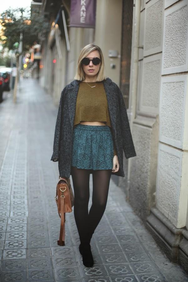 my showroom sweater skirt shoes bag sunglasses jewels t-shirt coat