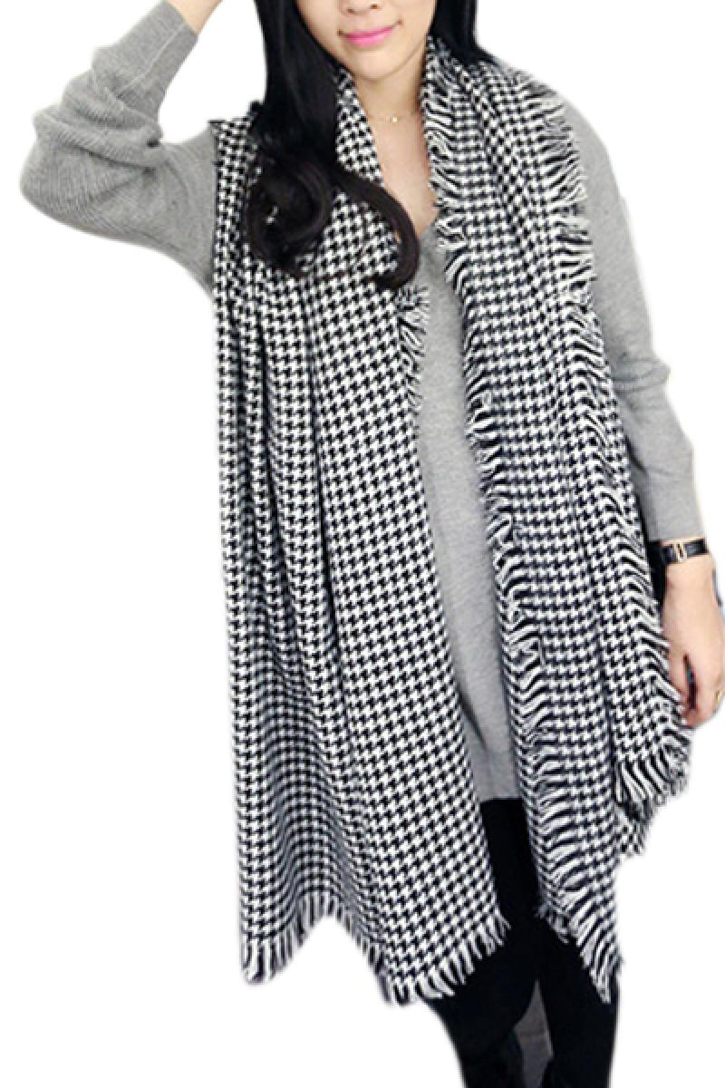 Autumn & Winter New Section Swallow Grid Long Section Scraf,Cheap in Wendybox.com
