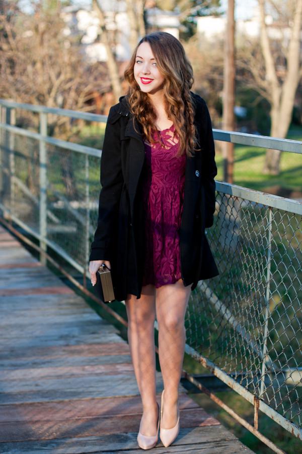 kolorowa dusza dress coat jewels bag shoes