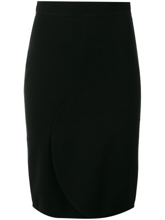 skirt pencil skirt women black silk