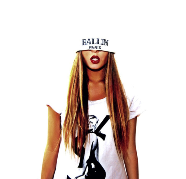 hat ballin paris alex and chloe alex & chloe ballin ysl balmain beanie toque white