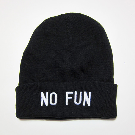 """""""NO FUN"""" BEANIE FROM NO FUN PRESS on The Hunt"""