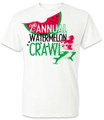 Watermelon Crawl White Vapor T-Shirt