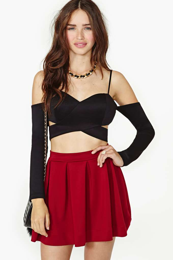 Nasty Gal Josette Crop Top   in  Clothes Tops at Nasty Gal