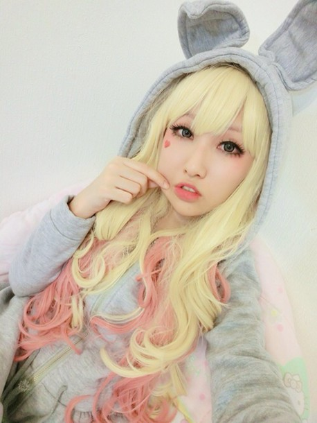 jacket grey bunny ears