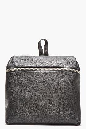 Kara Black Leather Box Backpack for women   SSENSE