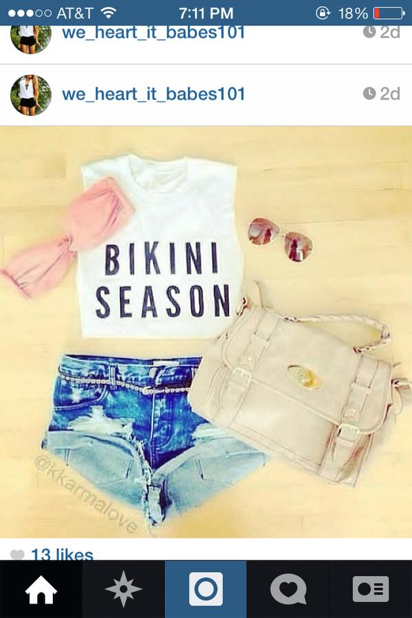 tank top clothes bikini summer summer outfits bag shorts