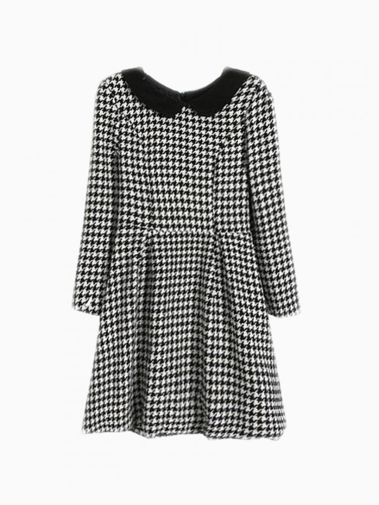 Skate Dress In Houndstooth   Choies