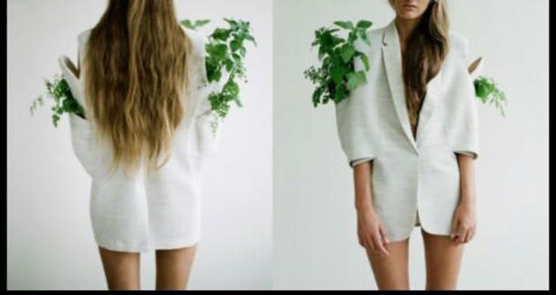 coat jacket begreen flowers