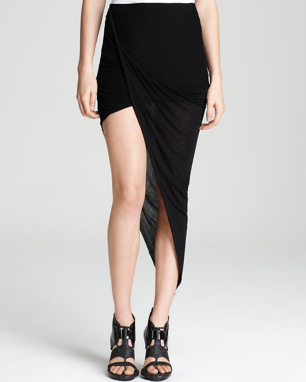 HELMUT Helmut Lang Skirt - Asymmetric Wrap   Bloomingdale's