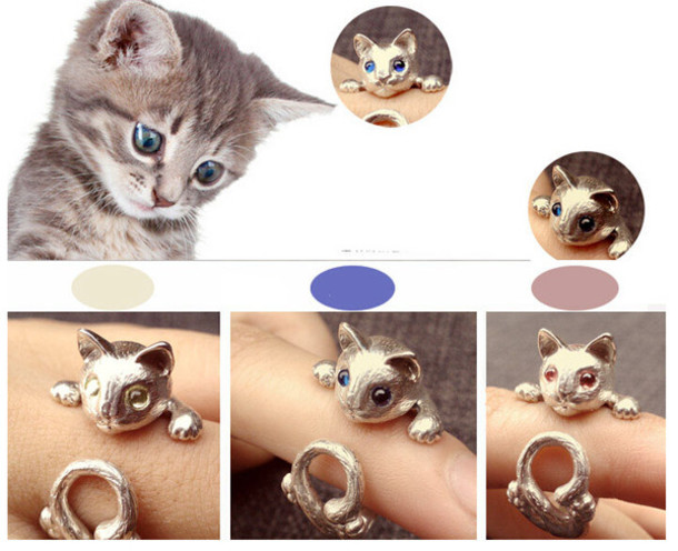 jewels cute cat cute cats 925 sterling silver ring 925 silver ring