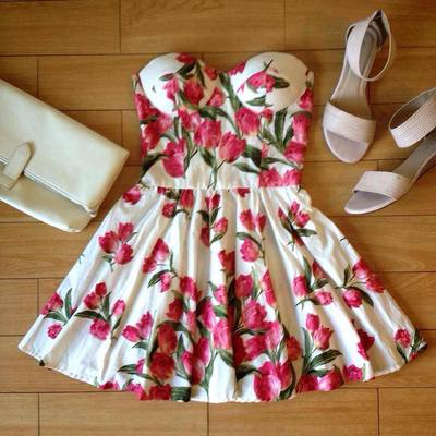 Floral Rose Bustier Dress · Humbly Glam · Online Store Powered by Storenvy