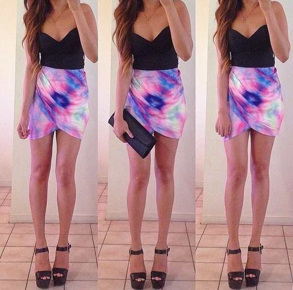 skirt shirt shoes