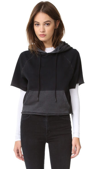 jacket cotton citizen the milan cutoff hoodie clothes