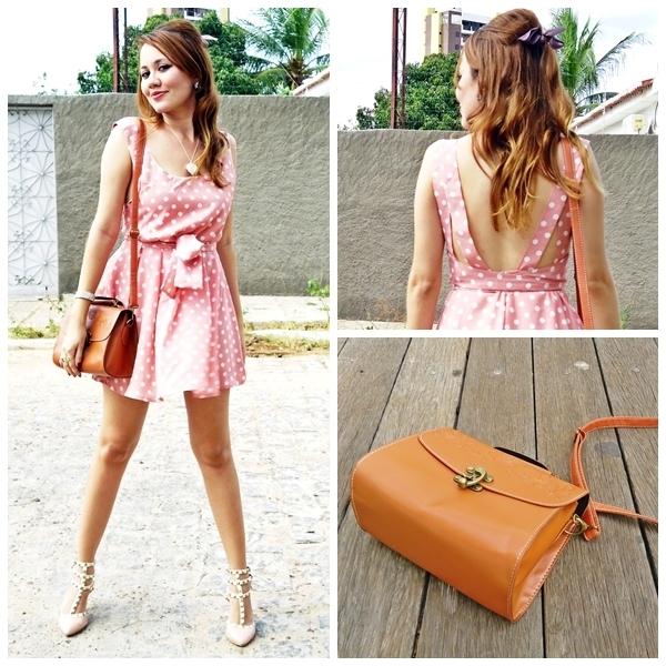 Backless Polka Dot Dress [FXBI00200]- US$29.99 - PersunMall.com