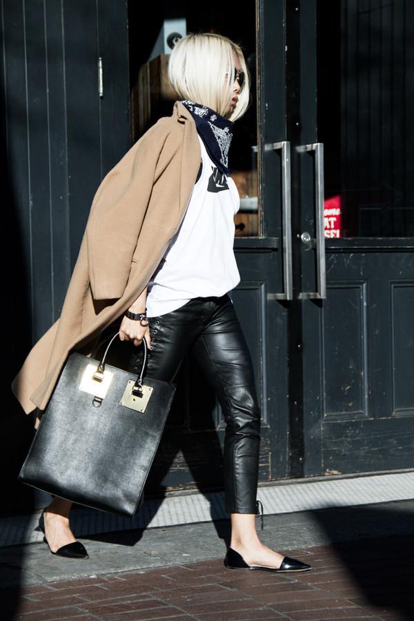 the haute pursuit coat t-shirt pants bag jewels