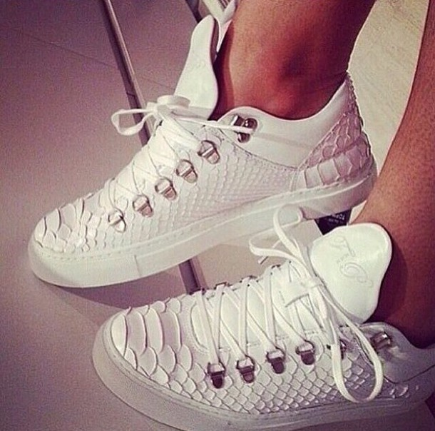 shoes white sneakers white shoes snake leather leather