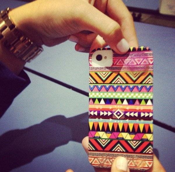 jewels phone cover tribal pattern