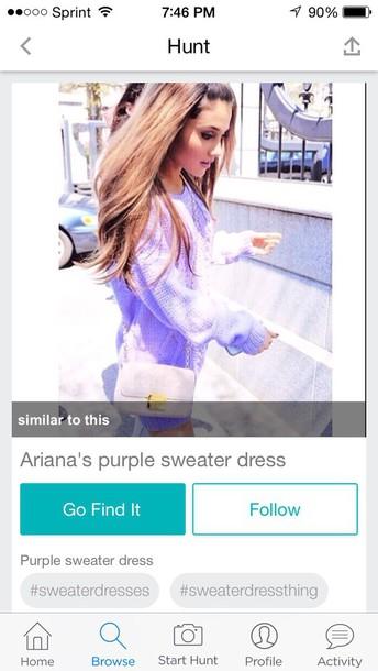 sweater ariana grande purple sweater