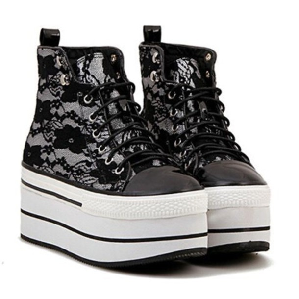 shoes black shoes lace up lace-up shoes white shoes platform shoes