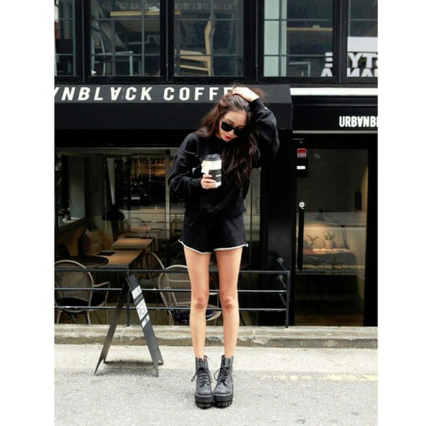 shoes boots with cutouts all black everything casual street streetwear streetstyle streetstyle streetwear streetstyle streetstyle blogger fashion inspo fashion inspo boots booties stylish style style trendy trendy trendy on point clothing dope
