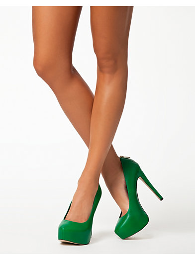 Natter Zip Back Court - River Island - Green - Party Shoes - Shoes - Women - Nelly.com