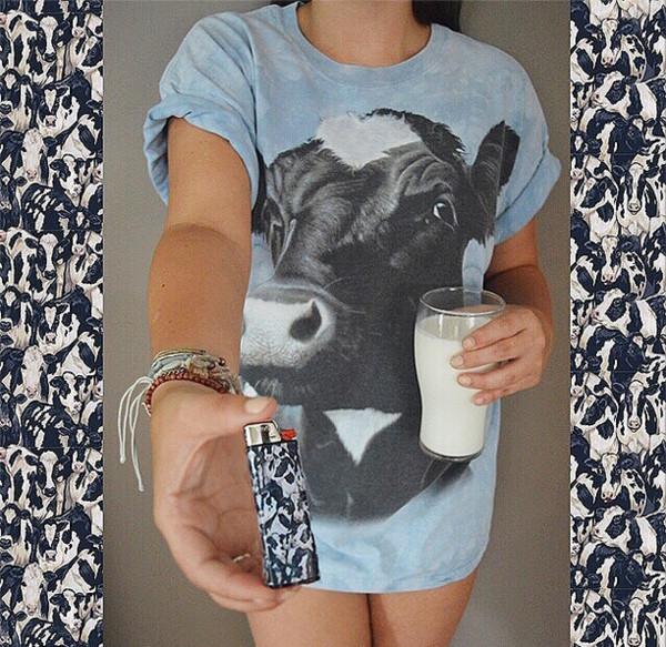 blouse cow t-shirt