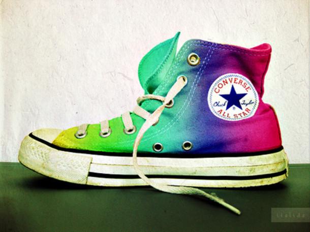 shoes converse rainbow shoes
