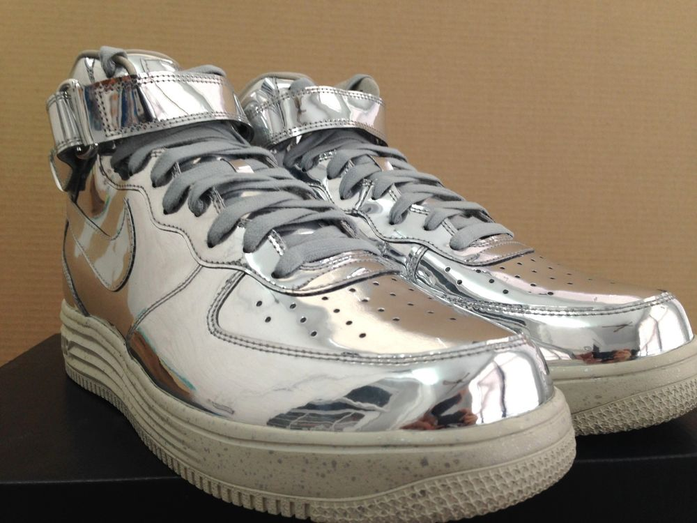 Nike Lunar Force 1 Mid SP Liquid Metal 8 13 DS Metallic Silver Sail 652849 092 | eBay