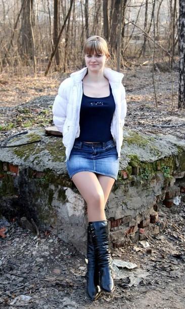 jeans denim mini skirt