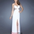 Sexy Strapless High Slit Sheer Net Back Chiffon Prom Dress PD11646