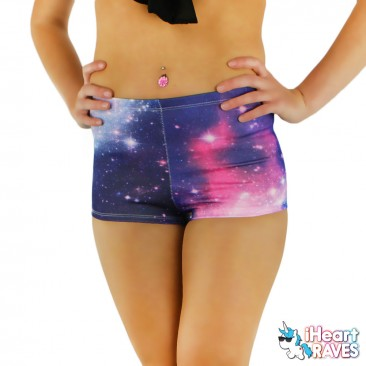 Galaxy High Waisted Shorts
